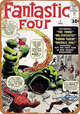 "7"" x 10"" Metal Sign - Fantastic Four #1 - Vintage Look Repro"