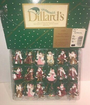 Dillard's Trimmings Handcrafted Collectible Santa Claus Christmas Tree Ornaments