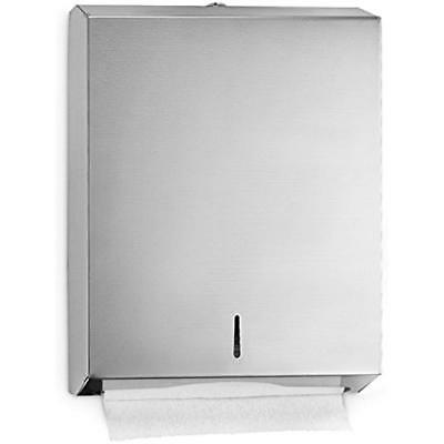 C-Fold/Multifold Paper Towel Dispenser Brushed Stainless Steel Holds Up 400 Or