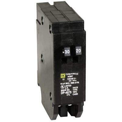 HOMT3020 Homeline 1-30-Amp 1-20-Amp Single-Pole Tandem Circuit Breaker