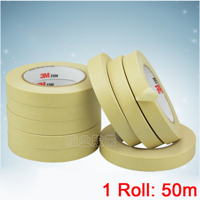3M Yellow Masking Tape Adhesive for Automotive Painting Decoration - Long 50m