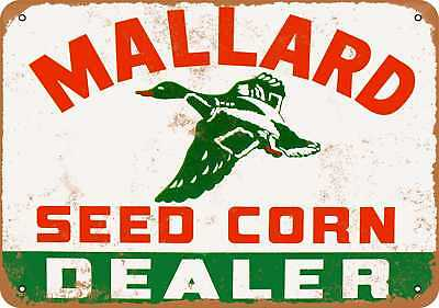 "7"" x 10"" Metal Sign - 1964 Mallard Seed Corn Dealer - Vintage Look Repro"