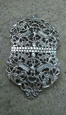 Beautiful Solid Silver Nurses Belt Buckle Birmingham 1976