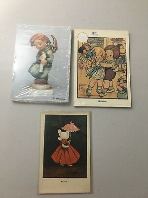 Hummel Postcards Dolly-first Sweetheart, Heavenly Angel 1986, 2 Packs Unopened