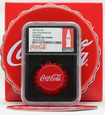 2018 Fiji Coca-Cola Coke Bottle Cap 6g Silver NGC PF70 Blackcore Coin JY929