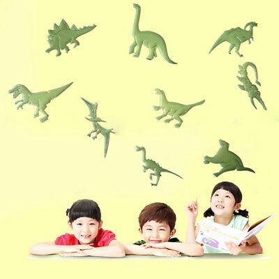 9Pcs Dinosaurs Design Stickers-Glow in the Dark Decal Kids Room Wall Art Decor