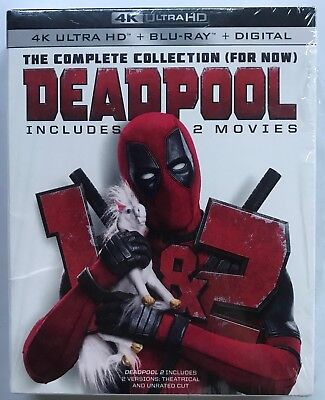 Marvel Deadpool 1 + 2 Collection 4K Ultra Hd Blu Ray 6 Disc Set + Slipbox Buy It