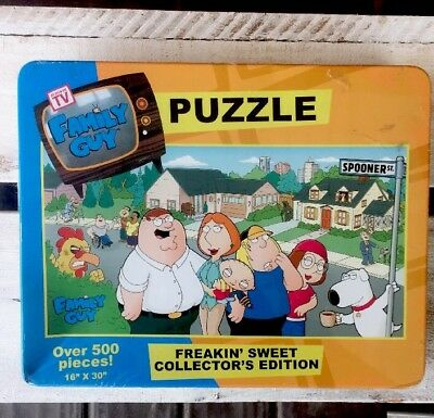 """Family Guy Freakin Sweet 16""""x30"""" 500 Piece Collectors Edition Puzzle Sealed"""