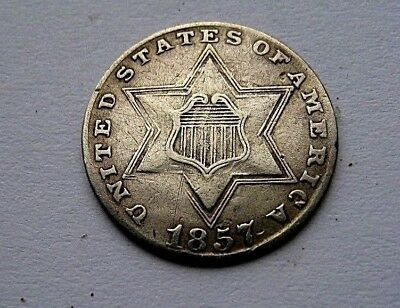 1857 3 Cent Silver..........EF Condition...........