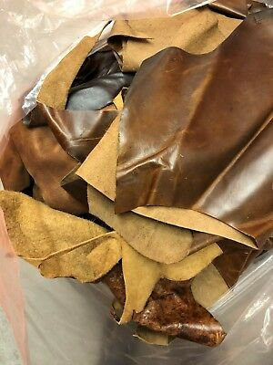 LARGE PACK Smooth Lether Mix Brown 5 lbs Bundle Leathercraft supplies by Pound