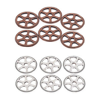 12pcs Fashionable Vintage Mixed Style Gear Pendants for Necklace Alloy DIY Parts