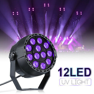 12W UV LED Black Light Purple Wall Washer Par Light Stage Strobe DJ Disco Party