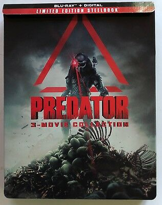 Predator 3 Movie Collection Blu Ray 3 Disc Set Limited Edition Steelbook Buy It