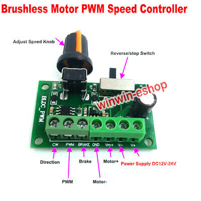 PWM Speed  Motor Switch Controller DC12V-24V Control Inner C/CW Driver Brushless