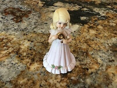 ENESCO PORCELAIN GROWING UP BLONDE 9 years old BIRTHDAY GIRL FIGURINE