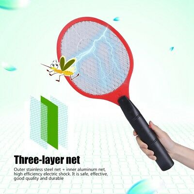 Cordless Electric Bug Zapper Racket Mosquito Fly Swatter Killer Insects Bat Hand