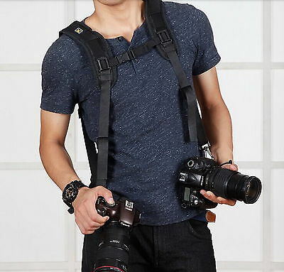New Double Shoulder Sling Belt Quick Rapid Strap for DSLR Digital SLR Camera