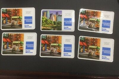 Lot 6 American Express Amex Credit Card Decal Sign Sticker By Patti Mollica