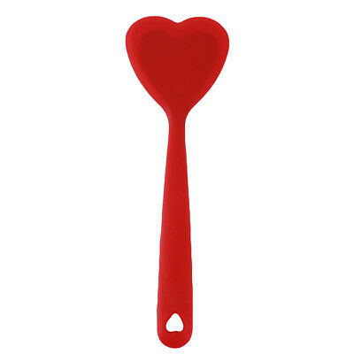 Red Heart Shape Red Flexible Cream Butter Spatula Mixing Batter B