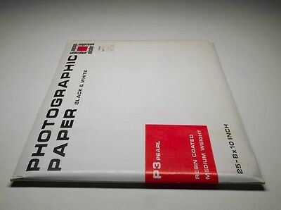 "Unicolor Photographic Paper P3 Pearl Resin Coated 25-8x10"" Sealed"