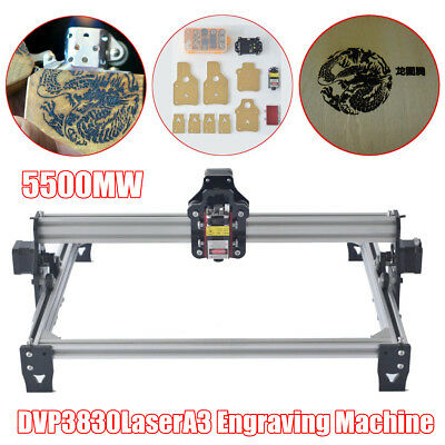 A3 5500mw Desktop Laser Engraver CNC Cutting Machine Logo Mark Engraving Printer