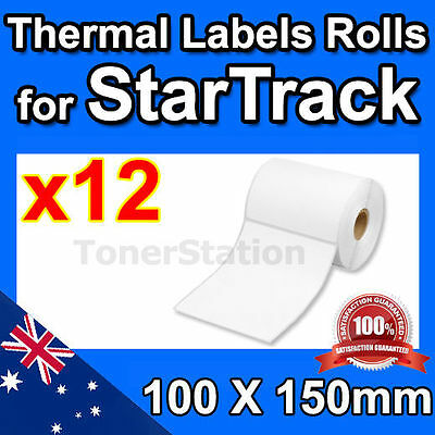 12x Direct Thermal Shipping Labels for Fastway eParcel Startrack 100x150mm 4×6