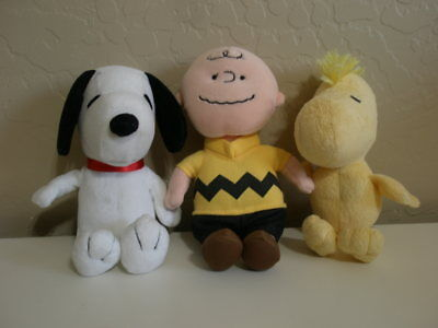 TY Beanie Baby Peanuts Snoopy, Charlie Brown & Woodstock Plush Toy