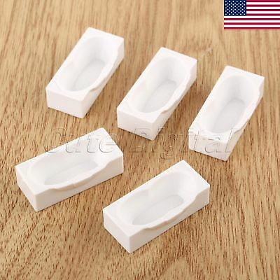 10x Bath Tub Doll House Miniature Bathroom Furniture 1:50 Scale White US STOCK