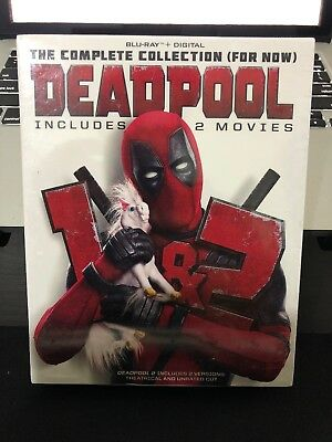 DEADPOOL 1 & 2 The Complete COLLECTION Blu-Ray + Digital + SLIPBOX - Free Ship