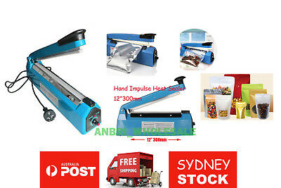 Impulse Heat Sealer 300mm Electric Plastic Poly Bag Hand Sealing Machine