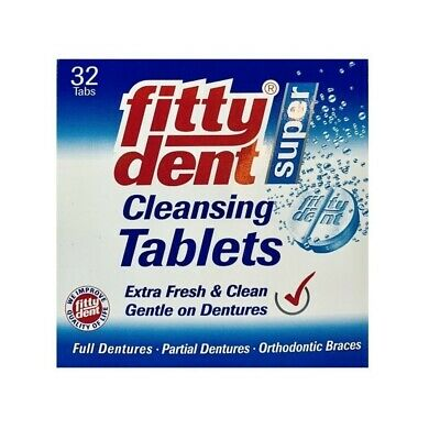 Fittydent Super Denture Cleaning 32 Tablets Orthodontic Braces Fitty Dent