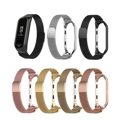 For Xiaomi MI Band 3 Smart Watch Strap Milanese Loop Stainless Steel Wrist Band