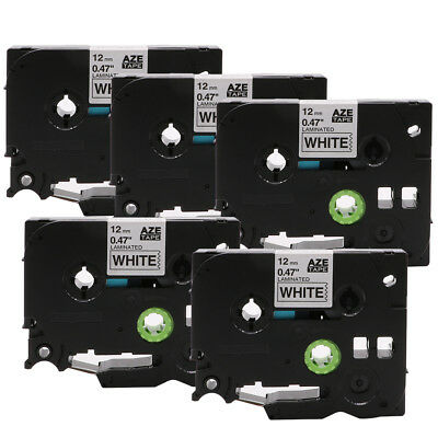 5PK Black on White Compatible Brother P-Touch TZe 231 12mm Label Tape Maker