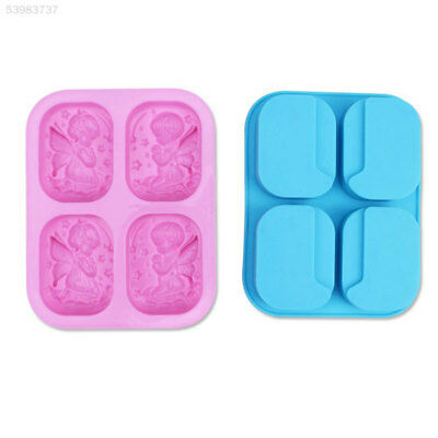 BD35 DIY Manual 4 Angles Blue Silicone Feather Fondant Chocolate Soap Mold Tool