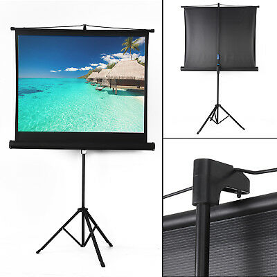 Portable Projector Movie Tripod Projection Screen Portable Pull-Up 50''- 4:3 New