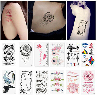 Mode Tattoo Tatouage Croix Autocollant Sticker Temporaire Body Art