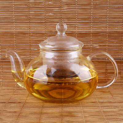 5228 Heat Resistant Clear Borosilicate Glass Teapot With Infuser Herbal Pot 1000