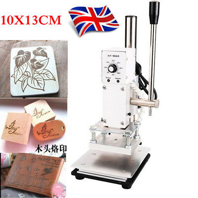 10*13cm Manual Hot Foil Stamping Machine PVC Card Leather Bronzing 220V
