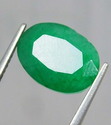 Natural 4.90 Ct Certified Oval Cut Colombian Loose Emerald Gemstone. 11092 ERT