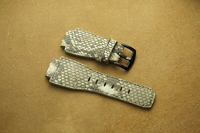 24mm/24mm Handmade Python Leather Watch/ Band Strap For Bell & Ross watches