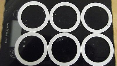Miners lamp washers / seals for glass size 58mm heat resistant non asbestos