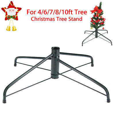 4/6/7/8FT Christmas Tree Stand Cast Metal Iron Holder 4Feet Base Home Decor Gift