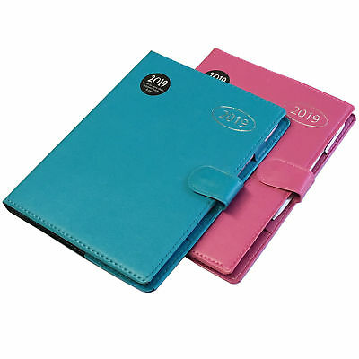 2019 Diary A5 Ladies Diary & Pen Pink Or Teal Quality Flexi Diary