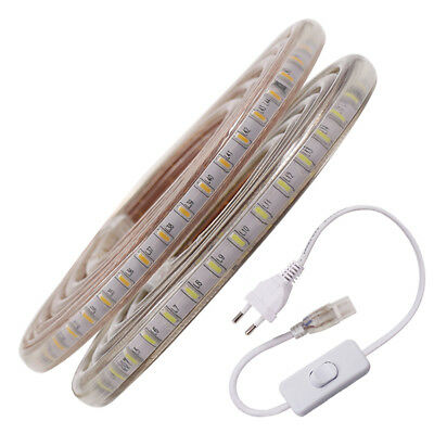 LED Strip Lights SMD 3014 Waterproof 120LEDs/m Garden Kitchen Light AC 220V 240V