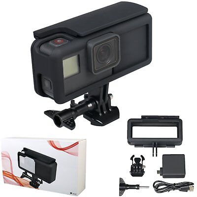 Backpack Extended Battery Side Frame Housing Case Cover For Gopro Hero 6 5 Black