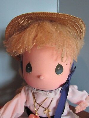 """Precious Moments mitzy Doll the worlds children yellow yarn  Hair 13"""""""