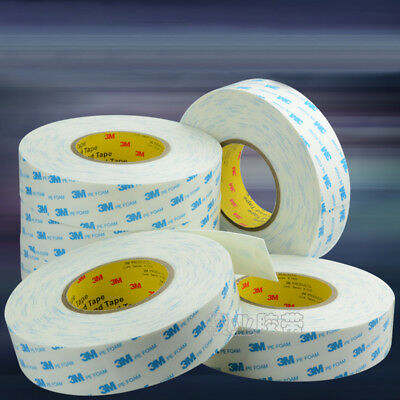 Brand 3M White Double-sided PE Foam Tape Strong Adhesive - Long 3m 15m 30m