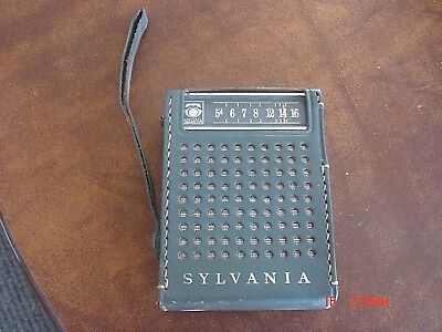 Vintage  Advertising Sylvania  AM  TR-74 Transistor Radio Lot #3
