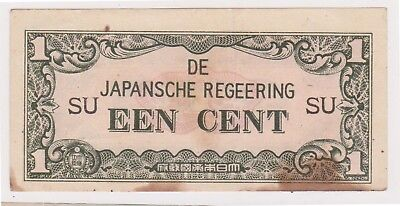 (N16-65) 1940s Japanese invasion money 1 cent bank note (BO)
