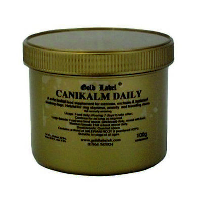 Gold Label - CaniKalm Daily Natural Anxiety Dog Calmer x Size: 100gm